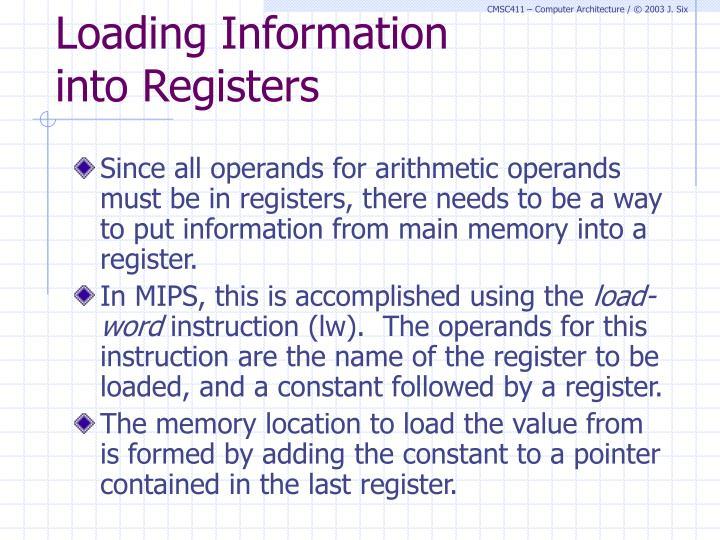 Loading Information
