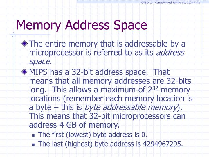Memory Address Space