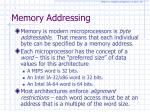 memory addressing