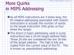 more quirks in mips addressing
