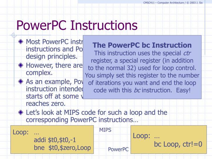 PowerPC Instructions