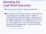 revisiting the load word instruction