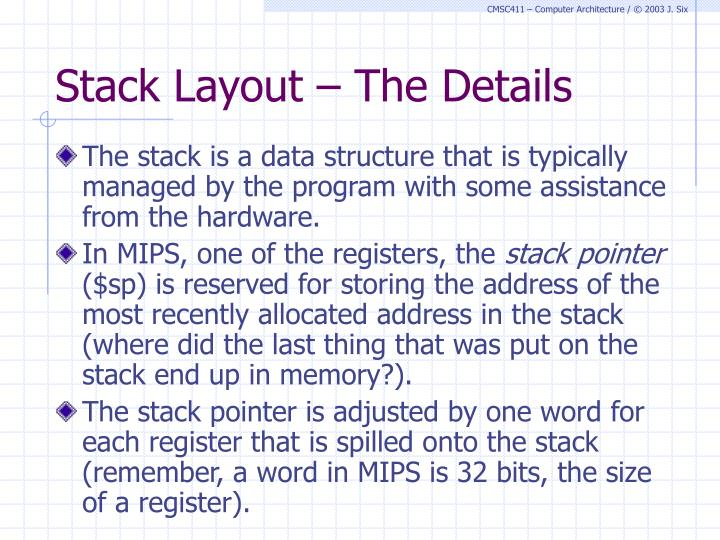 Stack Layout – The Details