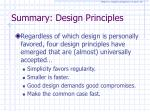 summary design principles