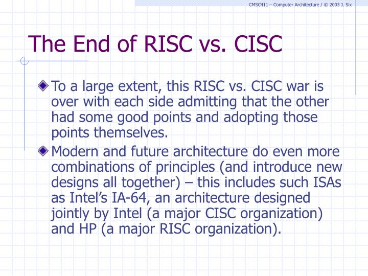 The End of RISC vs. CISC