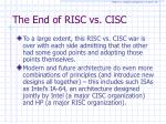 the end of risc vs cisc