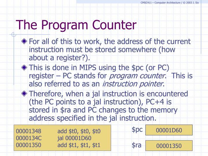 The Program Counter