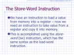 the store word instruction
