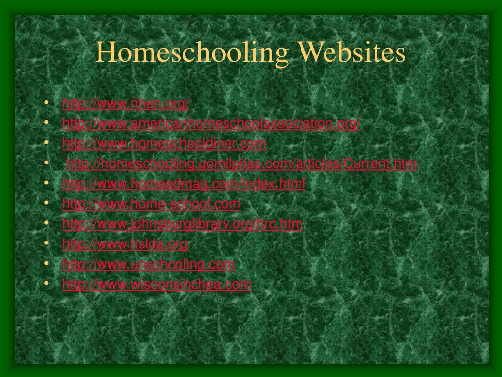 Homeschooling Websites