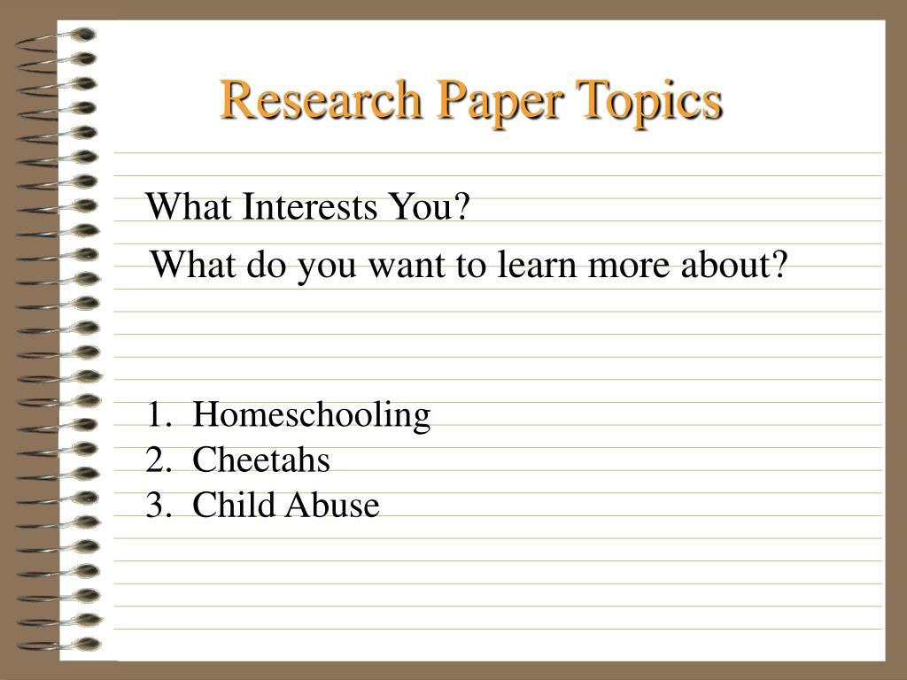 research paper topics l.