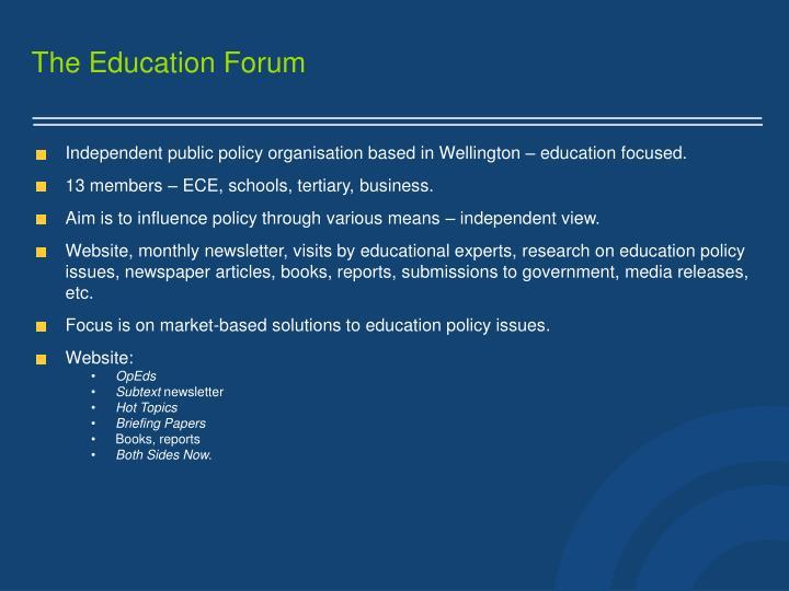 The education forum