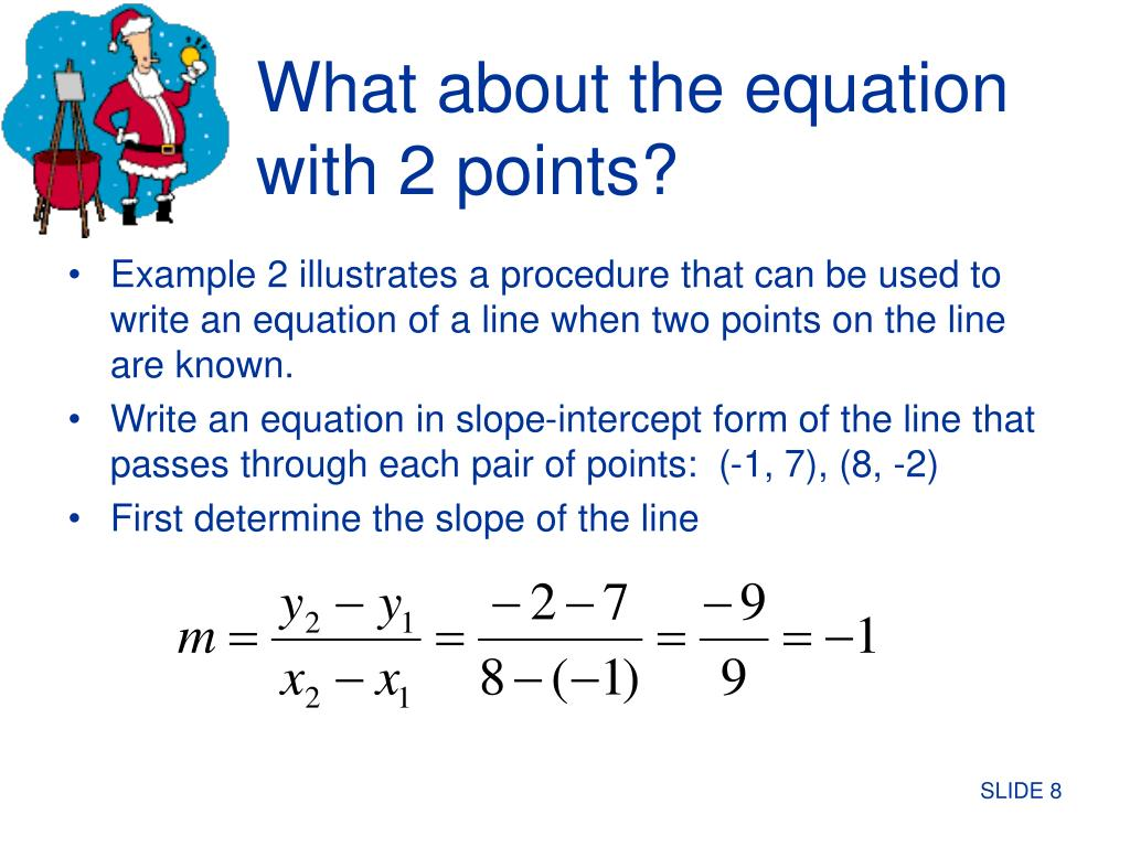 What about the equation with 2 points?