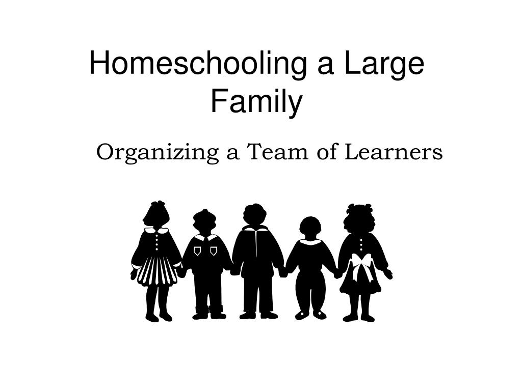 homeschooling a large family l.