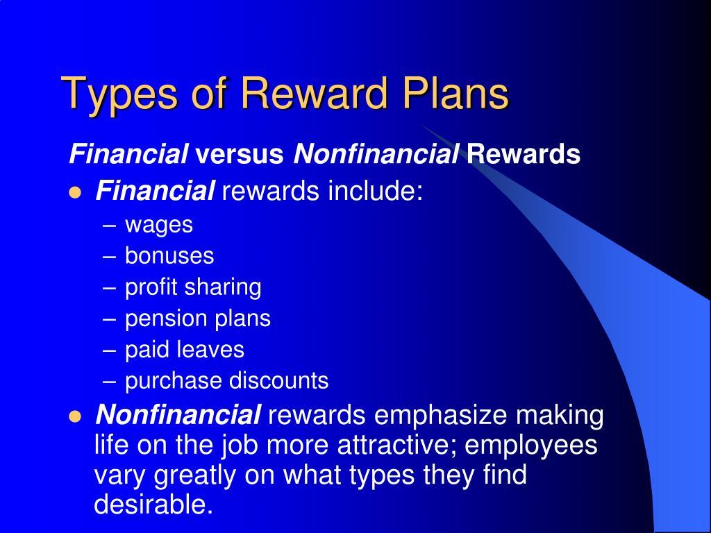 Types of Reward Plans