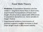 food web theory29