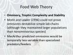 food web theory33