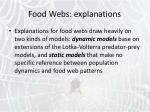 food webs explanations