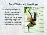 food webs explanations15