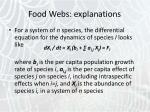food webs explanations5