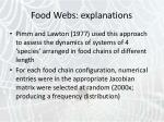 food webs explanations7