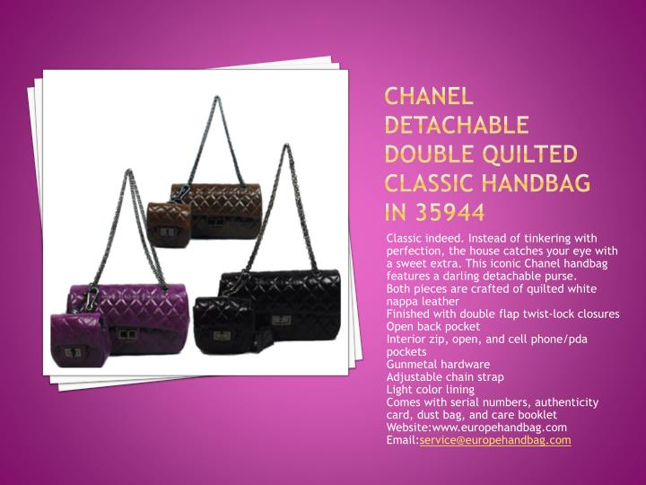 Chanel Detachable Double Quilted Classic Handbag in