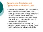 demand side constraints and opportunities at the macro level