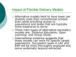 impact of flexible delivery models