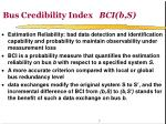 bus credibility index bci b s