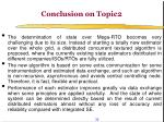 conclusion on topic2