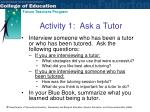 activity 1 ask a tutor