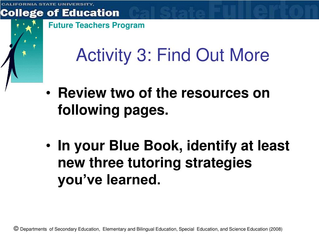 Activity 3: Find Out More