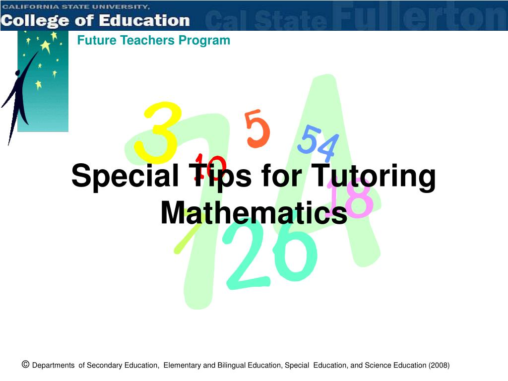 Special Tips for Tutoring Mathematics