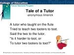 tale of a tutor anonymous limerick