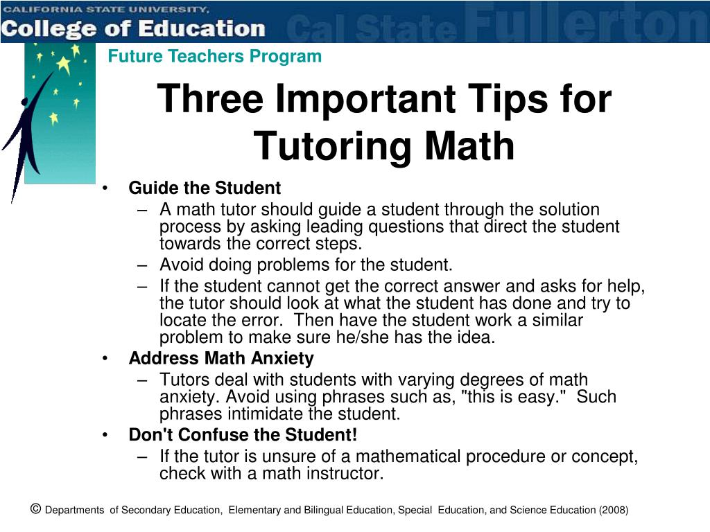 Three Important Tips for Tutoring Math