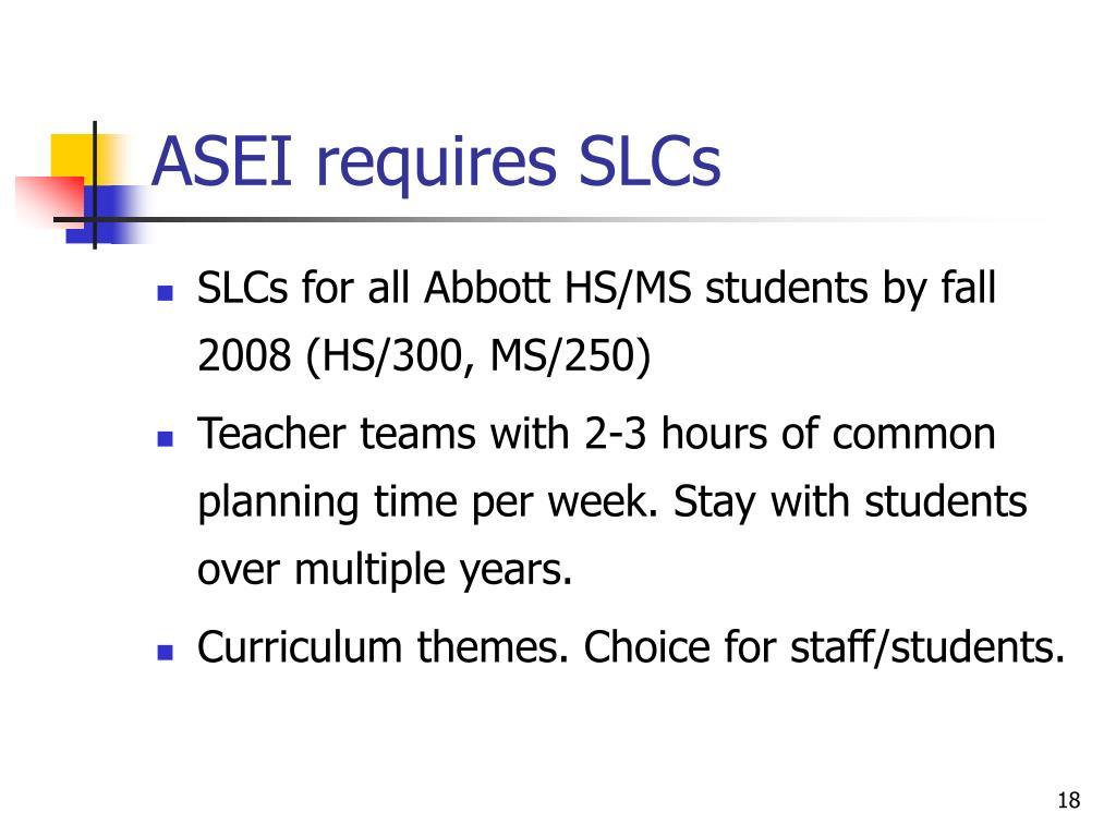ASEI requires SLCs