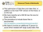enhanced thesis multimedia