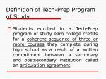 definition of tech prep program of study3
