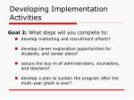 developing implementation activities44