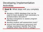 developing implementation activities55