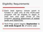 eligibility requirements15