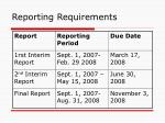 reporting requirements20