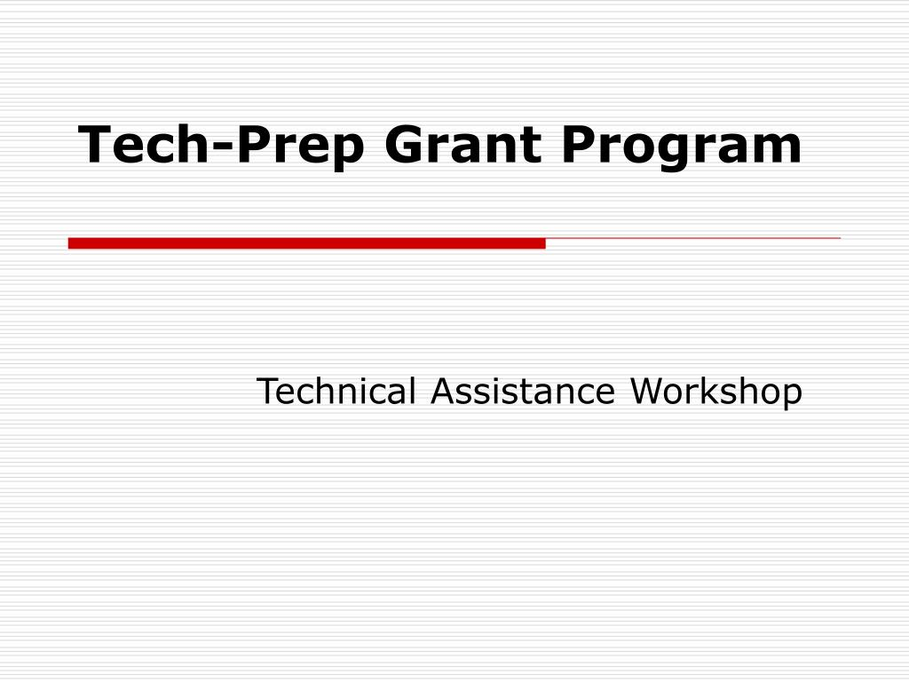 tech prep grant program l.