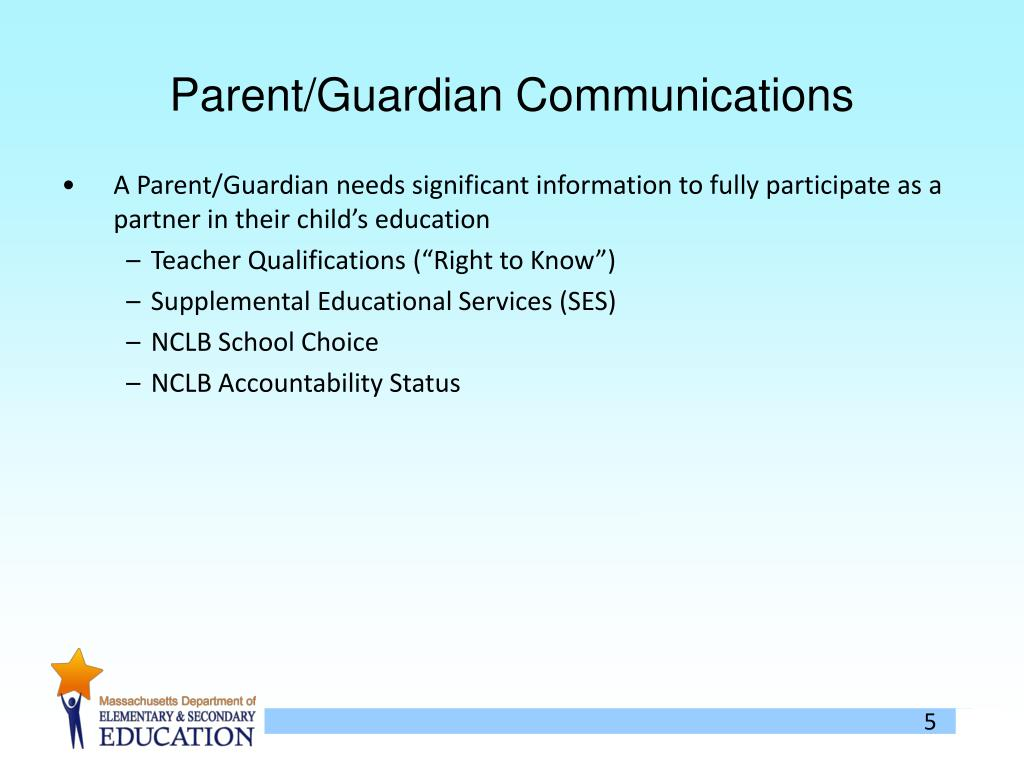 Parent/Guardian Communications