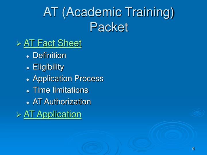 AT (Academic Training)