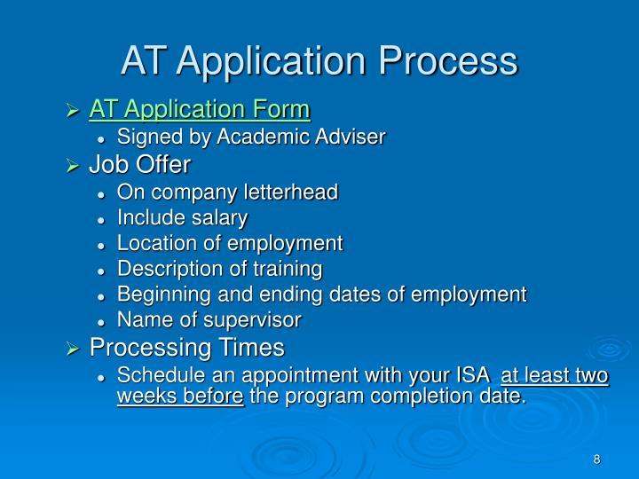 AT Application Process