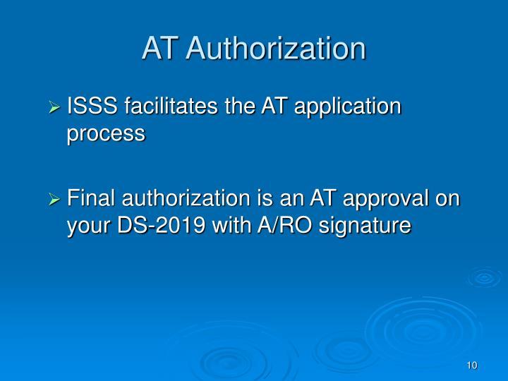 AT Authorization