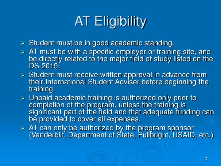 AT Eligibility