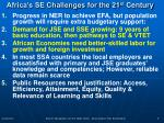 africa s se challenges for the 21 st century