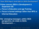 does seia report shed light on skills development