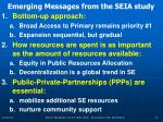 emerging messages from the seia study